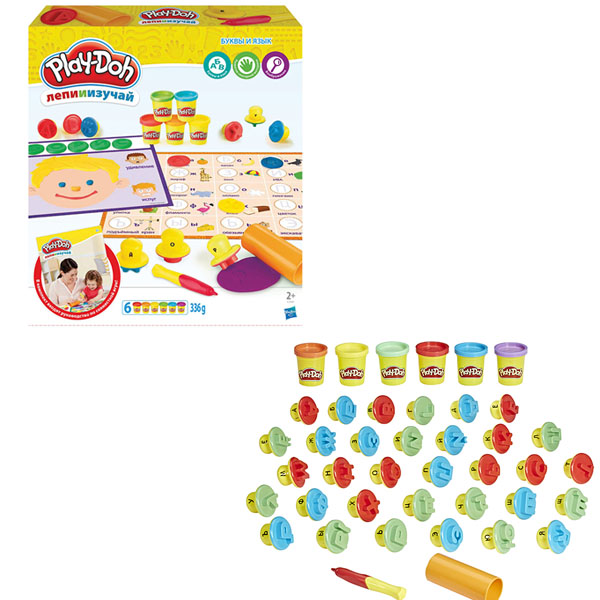 """PLAY-DOH - Play-Doh Игровой набор """"Буквы и языки"""" (C3581) обложка книги"""