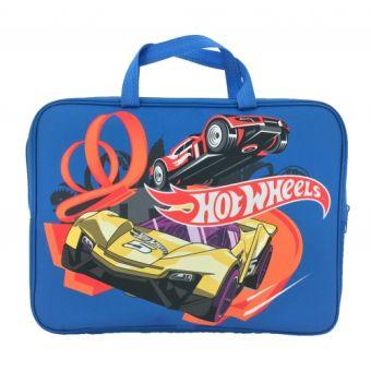 """Папка-сумка """"Hot Wheels"""", с ручкой, формат А4, текстильная 88612"""