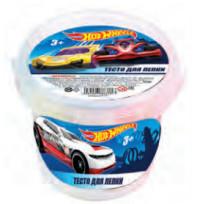 """Тесто для лепки """"Hot Wheels"""" 7 цветов*30грамм, в наборе 2 формочки 88637"""