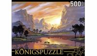 Konigspuzzle. ПАЗЛЫ 500 элементов. АЛК500-8341 ДЖОН РАТТЕНБЕРИ. ОЗЕРО НА ЗАКАТЕ