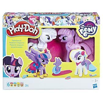 "PLAY-DOH - Play-Doh Игровой набор ""Твайлайт и Рарити"" (B9717) обложка книги"