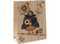 """Пакеты подарочные. Пакет """"Сова-пират"""" (1434-SB)"""