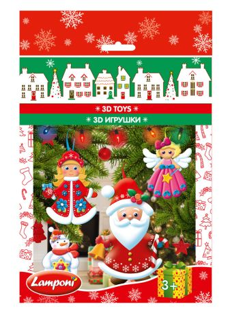 Lamponi - LMRA-UA3-NY3DPT-H4  3D ИГРУШКИ, 4 шт. Состав набора: Четыре красочные картонные карточки с декоративными элементами с перфорацией, двусторонний объемн обложка книги