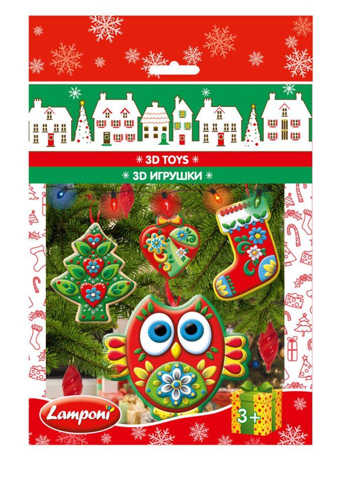 Lamponi - LMRA-UA4-NY3DPT-H4  3D ИГРУШКИ, 4 шт. Состав набора: Четыре красочные картонные карточки с декоративными элементами с перфорацией, двусторонний объемн обложка книги