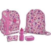 SKEB-UT3-156-SET51 Набор школьника. Рюкзак эргономичный. Пенал для канцелярских принадлежностей.Мешок для обуви.Ланчбокс. Бутылочка. Размер: 38 х 30 х