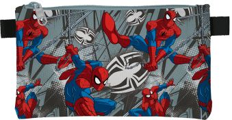 SMEB-MT2-455 Пенал. Прямоугольной формы, на молнии. Размер: 11,5 х 22 х 1 см. Spider-man Classic
