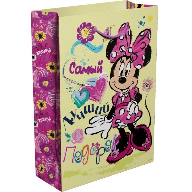 """Disney. Минни - Пакет подарочный """"Самый лучший подарок"""" 350*250*90 обложка книги"""