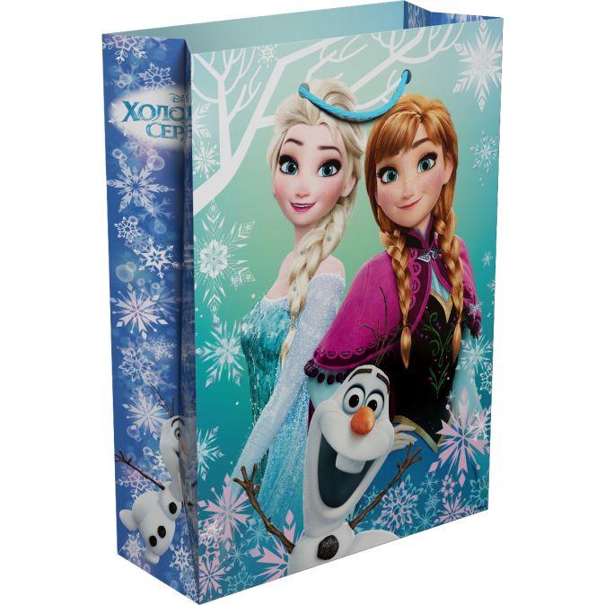 """Disney. Холодное Сердце - Пакет подарочный """"Холодное сердце"""" 350*250*90 обложка книги"""