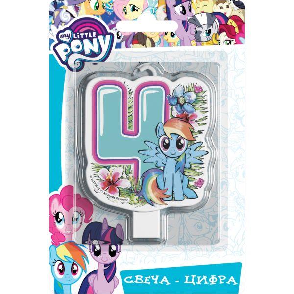 Свеча цифра №4, My Little Pony Мой маленький пони