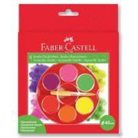 Акварельные краски JUMBO, неоновые цвета диаметр 40 мм, 6 шт.