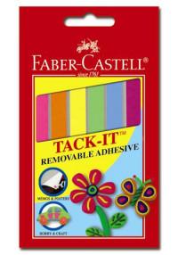 Снимаемая масса для приклеивания TACK-IT, цветная, 50г, в картонной коробке, 25 блистеров
