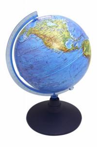 Глобус Земли физико-политический 210мм с подсветкой от батареек КлассикЕвро