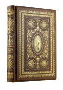 Семейная Библия. Рассказы из Священной истории Ветхого и Нового Завета, Книга в коллекционном кожаном переплете, с окрашенным и вызолоченым обрезом