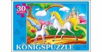 Konigspuzzle. ПАЗЛЫ 30 элементов. МИР ЕДИНОРОГОВ (Арт. ПК30-5762)