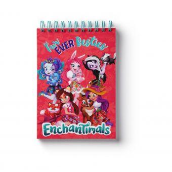 """Блокнот """"Enchantimals"""", формат А6, 60 листов, на спирали, клетка 88765"""