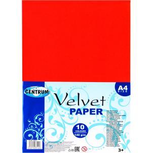 Бумага бархатная формат А4, 10 цветов 88511