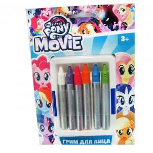 """Карандаши гримировальные цветные """"My Little Pony"""", 6 тон.: сиреневый, голубой, белый, фуксия, песочный, зеленый 88794"""