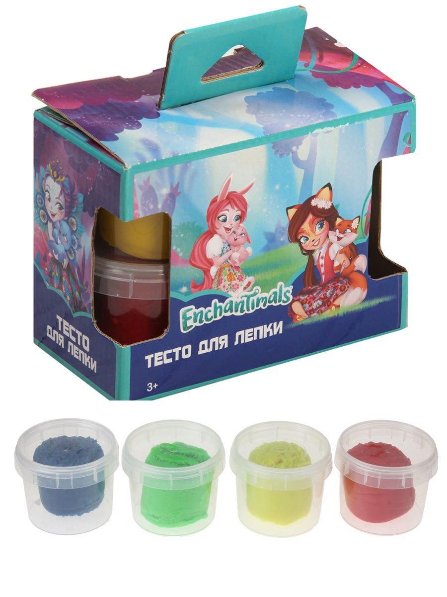 Набор теста для лепки Enchantimals, 4 цвета* 80 г. Цвета ассорти 88693