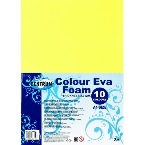 Набор для аппликаций из Eva, формат А4, 10 цветов, толщина 2 мм 88080