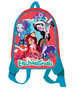 """Рюкзак """"Enchantimals"""", 1 отделение, дошкольный, детский, передняя часть выполнена из формованного вспененного полимера, уплотненная спинка,  одно отде"""