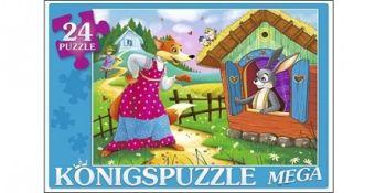 Konigspuzzle. МЕГА-ПАЗЛЫ 24 элемента. ЗАЮШКИНА ИЗБУШКА-1 (Арт. ПК24-5878)