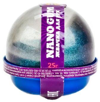 """Пластилин для лепки """"Жвачка для рук """"Nano gum"""",  эффект алмазной пыли"""", 25 гр."""