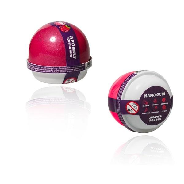 """Пластилин для лепки """"Жвачка для рук """"Nano gum"""", аромат клубники"""", 25 гр."""