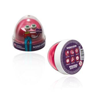 """Пластилин для лепки """"Жвачка для рук """"Nano gum"""", аромат клубники"""", 50 гр."""