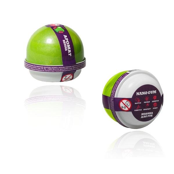 "Пластилин для лепки ""Жвачка для рук ""Nano gum"", аромат яблока"", 50 гр."