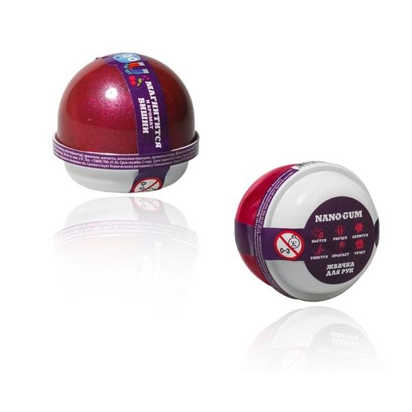 "Пластилин для лепки ""Жвачка для рук ""Nano gum"", магнитится, с ароматом Вишни"", 25 гр."