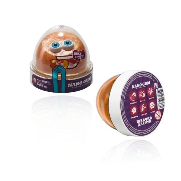 "Пластилин для лепки ""Жвачка для рук ""Nano gum"", оранжево-желтый с ароматом LOVE IS"", 50 гр."