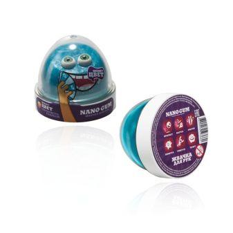 """Пластилин для лепки """"Жвачка для рук """"Nano gum"""", серебристо-голубой"""", 50 гр."""