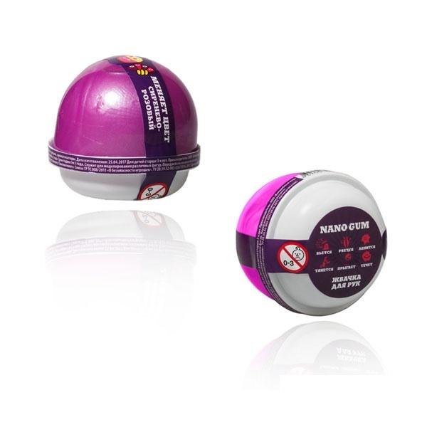 "Пластилин для лепки ""Жвачка для рук ""Nano gum"", сиренево-розовый"", 25 гр."