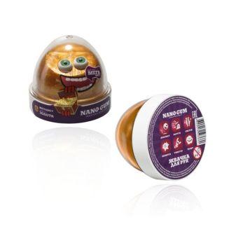 """Пластилин для лепки """"Жвачка для рук """"Nano gum"""", эффект золота"""", 50 гр."""