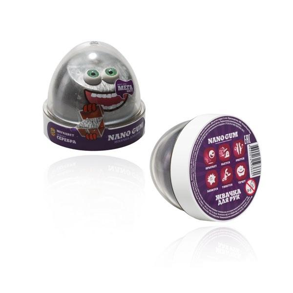 "Пластилин для лепки ""Жвачка для рук ""Nano gum"", эффект серебра"", 50 гр."