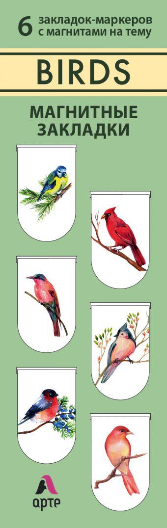 Магнитные закладки. Birds (6 закладок полукругл.) (Арте)