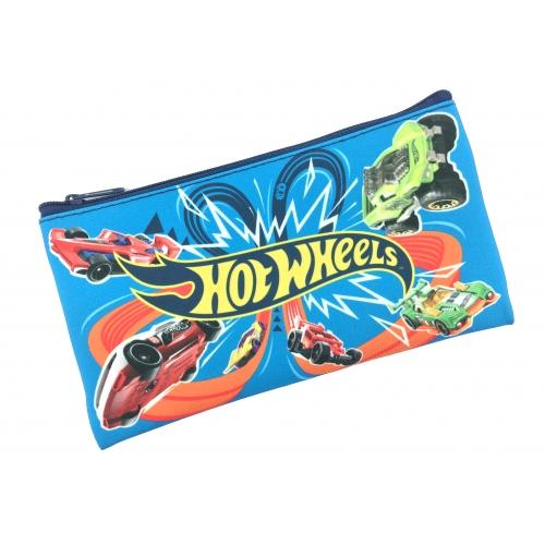 "Пенал плоский ""Hot Wheels"", размер 19*10 см, на молнии, полиэстер, 210 ден 88645"