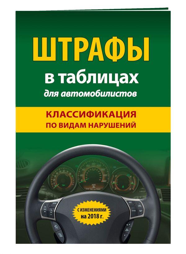 Штрафы в таблицах для автомобилистов с изм. на 2018 год (классификация по видам нарушений)
