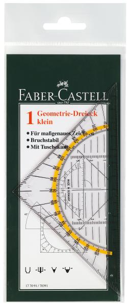 Многофункциональный треугольник КОМБИ, 160x80x1.8мм, в пластмассовом пенале, 1 шт.