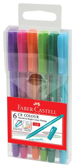 Роллер CX Color, в пласт. пенале, набор цветов, 6 шт.
