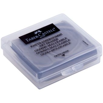 Художественный ластик, серый, в индивидуальной упаковке, 18 шт.