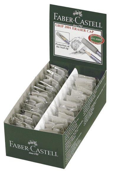 Ластик-колпачок GRIP 2001, серый, в картонной коробке, 24 шт. - фото 1