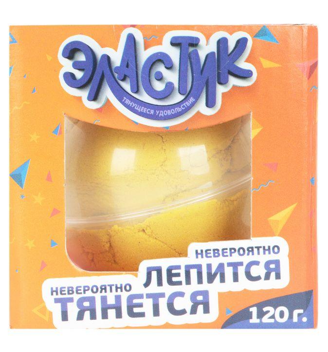 """Тянущийся пластилин ТМ """"Эластик"""", желтый, 120 гр."""