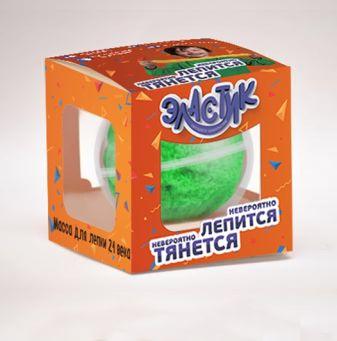 """Тянущийся пластилин ТМ """"Эластик"""", зеленый , 120 гр."""