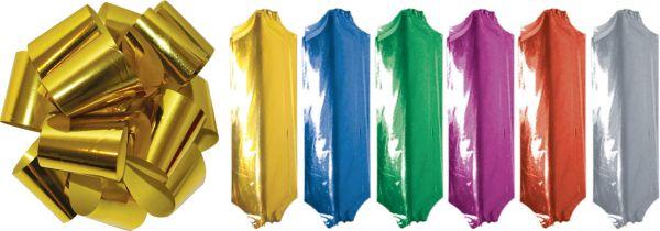 """Металлизированный бант """"pom-pom"""" (лента собирается в бант), цвета в ассортименте , в PP пакете с подвесом"""