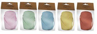 Упаковочная лента-кокон, рафия,  цвета в ассортименте, в PP пакете с картонным подвесом, лента 3 х 3000 см,  размер  16,5 х 9 х 4,5 см