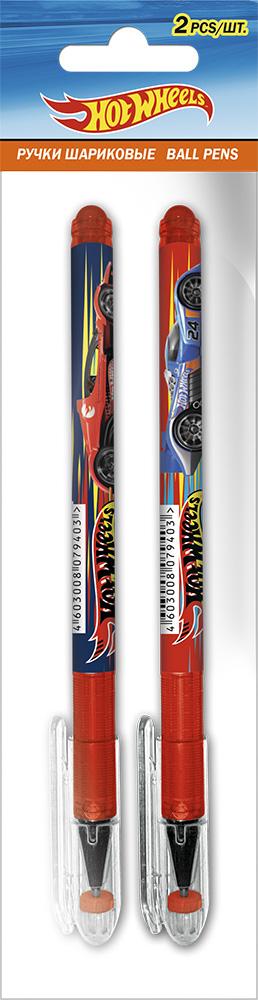 Ручка шариковая автоматическая. Набор 2 шт, в ПП-пакете.Размер: 20 х 6 х 1 см. Hot Wheels - фото 1