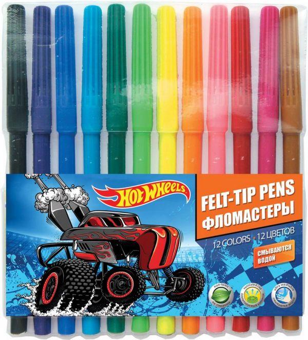 Набор цветных фломастеров, 12 шт. Размер одного фломастера - 14,6 х 0,8 см, (с колпачком). Колпачок - вентилируемый, в цвет наконечника, непрозрачный.