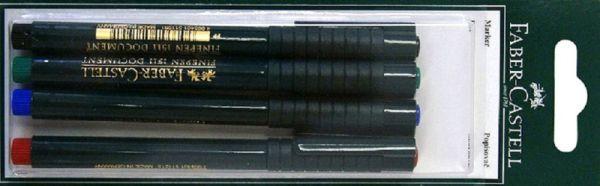 Капиллярная ручка FINEPEN 1511, набор цветов, в блистере, 4 шт.