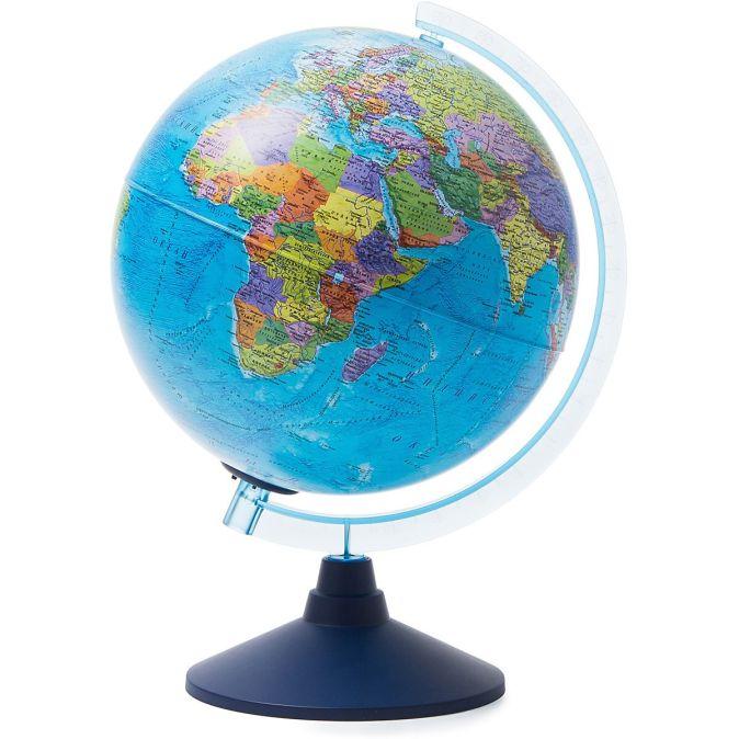 Глобус Земли политический рельефный с подсветкой от батареек. Диаметр 210мм (Рельеф)